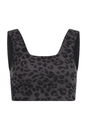 Varley Iron Grey Cheetah Delta Sports Bra