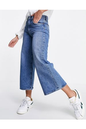 French Connection Denim culotte in mid