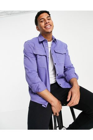 River Island Men Casual - Overshirt in lilac