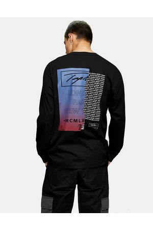 Topman Signature front and back printed t-shirt in