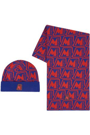 Moncler Kids - Red Logo Hat Set - Unisex - 8/10 years - - Hat, scarf and gloves set