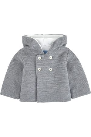 Jacadi Knit Hooded Cardigan Gray - Boy - 1 month - - Spring and fall jackets