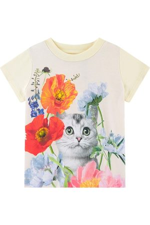 Molo Kitty Cat Elly T-Shirt - Girl - 9 Months - - T-shirts