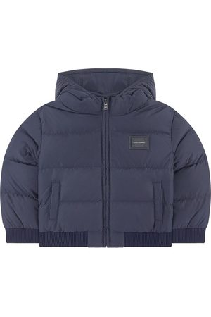 Dolce & Gabbana Kids Sale - Navy Branded Puffer Jacket - Boy - 9-12 Months - - Padded and puffer jackets