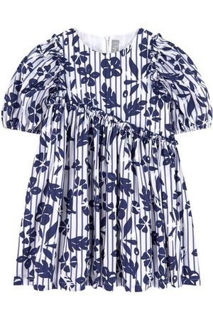 Il gufo Sale - Floral Striped Dress White - Girl - 4 Years - - Casual dresses