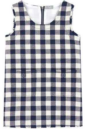 Il gufo Sale - Checked Dress Navy - Unisex - 4 Years - - Casual dresses