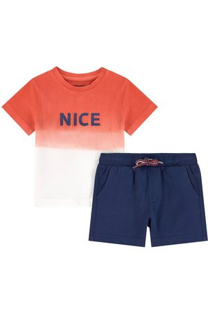 Mayoral Ombre Print T-Shirt And Shorts Set - Boy - 6 months - - Outfit sets