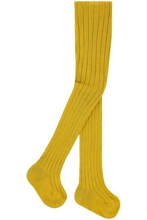 CONDOR Ribbed baby tights - Curry - Unisex - 0-3 months - - Tights