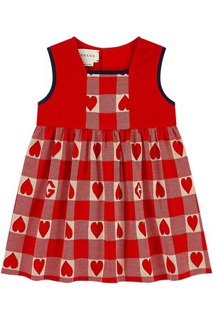 Gucci Kids - Gingham Heart Dress - Girl - 18-24 months - - Party dresses