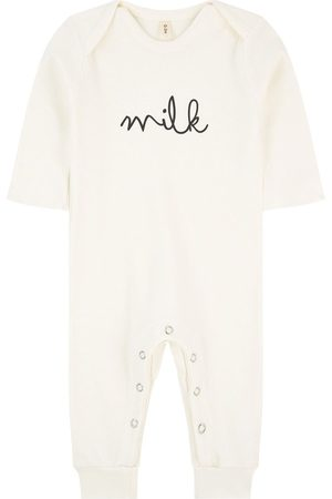 Organic Zoo Graphic organic cotton longall - Unisex - 3-6 Months - Cream - Ivory - Playsuit and jumpsuits