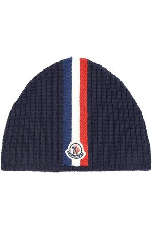 Moncler Kids - Knitted Hat Navy - Unisex - 6 years - - Beanies