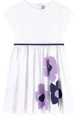 Il gufo Sale - White Floral Print Dress - Girl - 4 Years - - Casual dresses