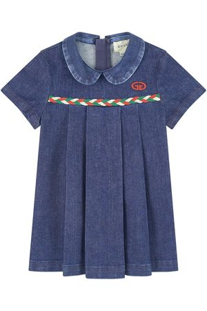 Gucci Kids - Jean dress with a Peter Pan collar - Girl - 9-12 months - - Casual dresses