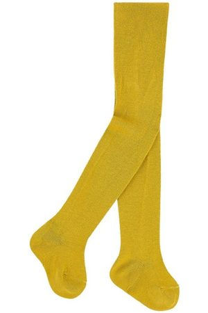 CONDOR Knitted baby tights - Curry - Unisex - 0-3 months - - Tights