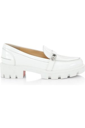 Christian Louboutin Men Loafers - Lock Lug-Sole Patent Leather Loafers