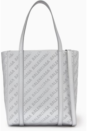 Balenciaga Everyday XXS Tote Bag in Allover Logo Metallic Smooth Calfskin
