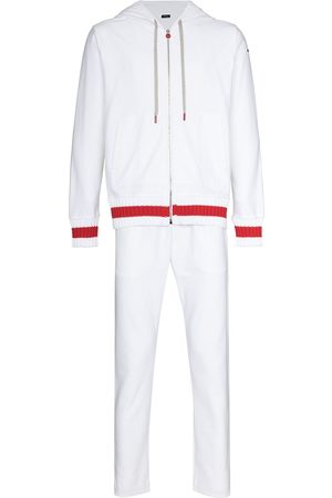 Kiton Drawstring ribbed-knit tracksuit