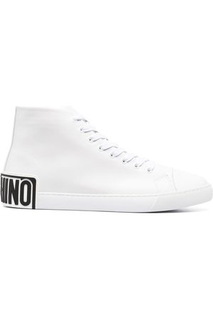 Moschino Men Sneakers - Logo-patch high-top sneakers