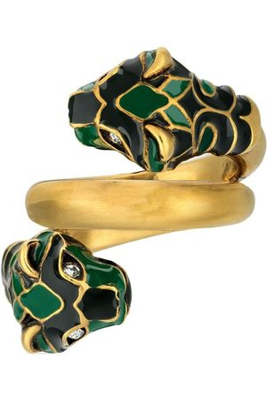 Gucci Men Rings - Double feline head ring