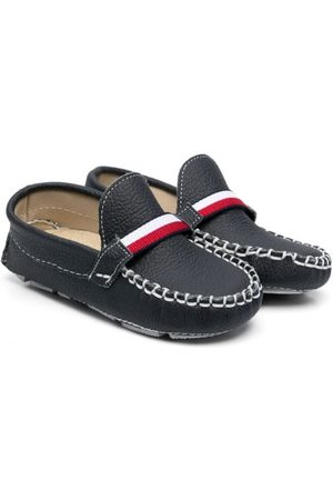 Babywalker Boys Loafers - Grained leather moccasins