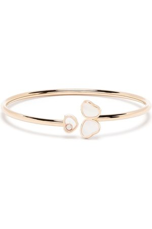 Chopard 18kt rose gold Happy Hearts Wings diamond and mother-of-pearl bangle