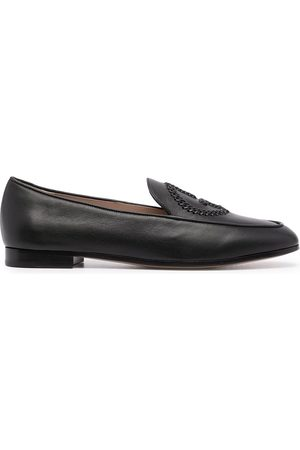 Armani Logo-detail leather loafers