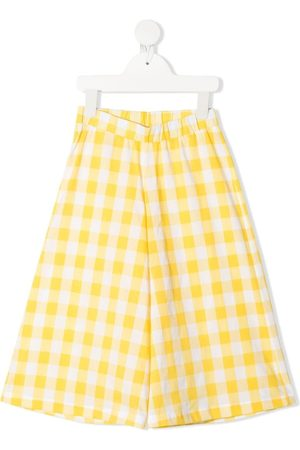 Piccola Ludo Gingham-check print trousers