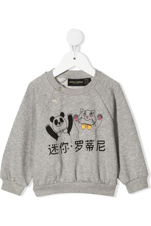 Mini Rodini Panda and cat-print sweatshirt
