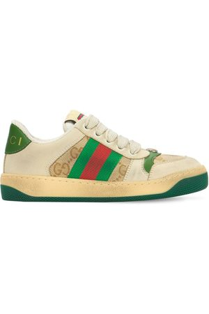 Gucci Girls Sneakers - Gg Canvas Sneakers W/ Web Detail