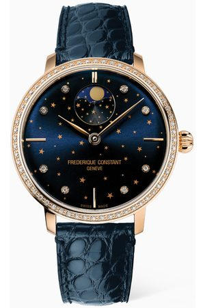 Frederique Constant Women Watches - Slimline Moonphase Automatic Watch with Diamonds