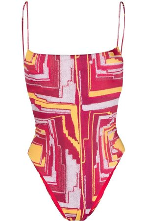 Sian Women Swimming Costumes - Abstract pattern print swimsuit