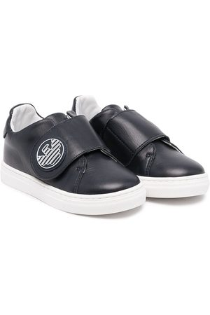 Emporio Armani Kids Sneakers - Touch-strap logo leather sneakers