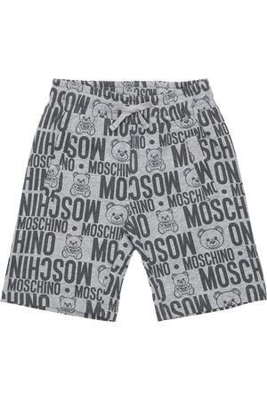 Moschino All Over Print Cotton Sweat Shorts