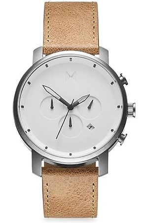 MVMT Chrono Stainless Steel & Leather-Strap Chronograph Watch