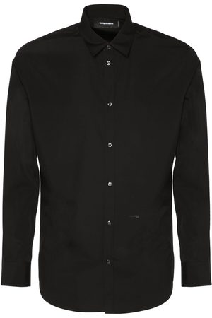 Dsquared2 Relaxed Dan Logo Cotton Poplin Shirt