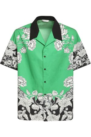 VALENTINO Dark Blooming Cotton Bowling Shirt