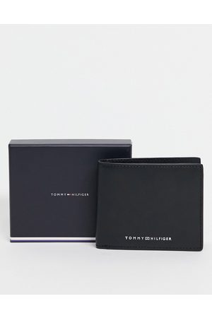 Tommy Hilfiger Leather mini wallet with coin and cardholder pockets with logo in