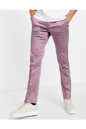 Twisted Tailor Suit trousers in mauve satin