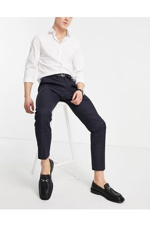 Moss Bros Moss London slim fit suit trousers in check