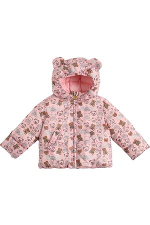 Moschino All Over Print Hooded Nylon Down Jacket