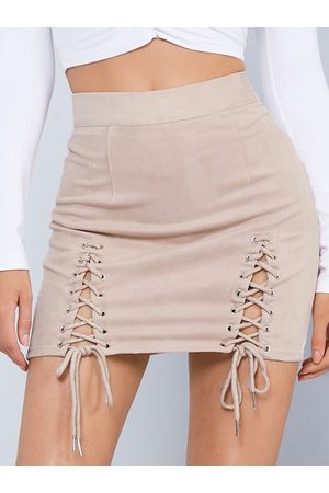 YOINS Lace-up Design Bodycon Skirt