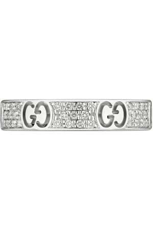 Gucci 18kt white gold diamond Icon stardust band ring