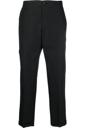 Alexander McQueen Men Formal Pants - Logo-strap tailored trousers