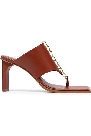DION LEE Women Sandals - Chain Harness 80mm heeled mules