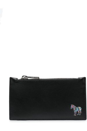 PS Paul Smith Zebra logo-patch leather wallet