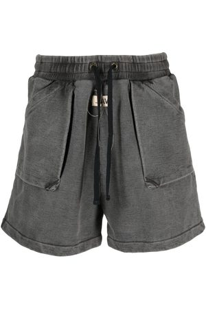 VAL KRISTOPHER Washed track shorts