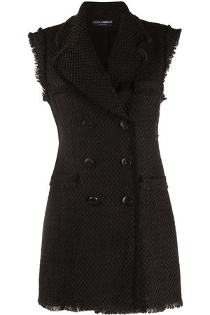 Dolce & Gabbana Women Party Dresses - Double-breasted wool mini-dress