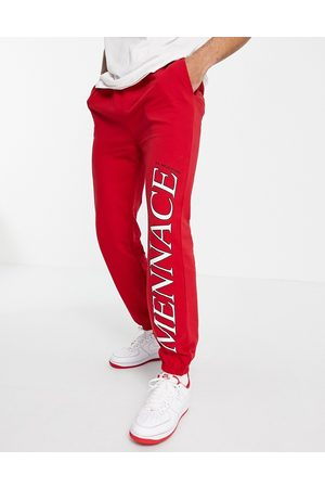 Mennace Joggers co-ord in with logo placement print