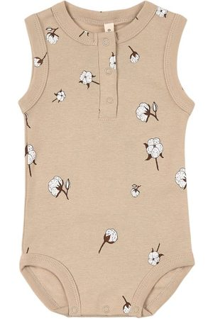 Organic Zoo Rompers - Cottonfield Sleeveless Bodysuit - Unisex - 0-3 Months - - Baby bodies