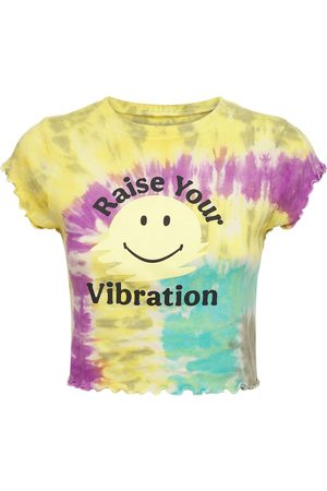 YEAR OF OURS Rainbow Tie Dye Cropped T-shirt